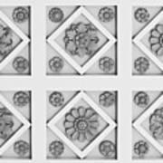 Getty Villa Coffered Peristyle Ceiling Art Print