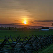 Gettysburg At Sunset Art Print