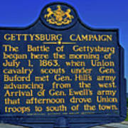 Gettysburg Campaign Art Print