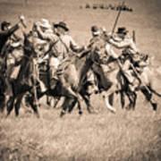 Gettysburg Cavalry Battle 7948s  Art Print