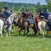 Gettysburg Cavalry Battle 7970c  Art Print