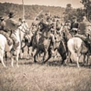 Gettysburg Cavalry Battle 7970s  Art Print