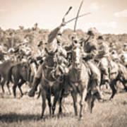Gettysburg Cavalry Battle 7992s  Art Print