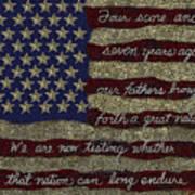 Gettysburg Homage Flag Art Print