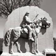 Gettysburg National Park 17th Pennsylvania Cavalry Monument Art Print