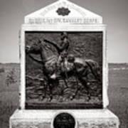 Gettysburg National Park 9th New York Cavalry Monument Art Print
