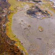 Geyser Basin Springs 4 Art Print
