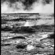 Geysers Of Yellowstone Art Print