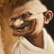 Ghandi Print by Court Jones