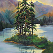 Ghost Island Near Jasper Art Print