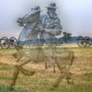 Ghost Of Gettysburg Art Print by Randy Steele