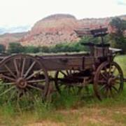 Ghost Ranch Wagon Art Print