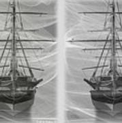 Ghost Ship - Gently Cross Your Eyes And Focus On The Middle Image Art Print