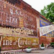 Ghost Signs In Radford Virginia Art Print