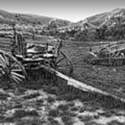 Ghost Wagons Of Bannack Montana Art Print