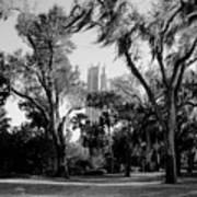 Ghostly Bok Tower Art Print