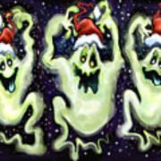 Ghostly Christmas Trio Art Print