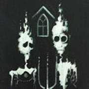 Ghosts Of American Gothic Art Print