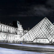 Ghosts Of The Louvre Museum  Art Art Print
