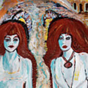 Ghosts On The Brooklyn Bridge Art Print