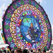 Giant Kite Mayan Women Art Print