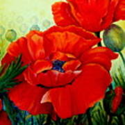 Giant Poppies 3 Art Print