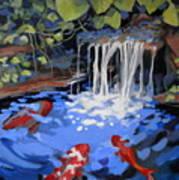 Gibb's Garden Stream Art Print