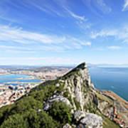 Gibraltar Rock Bay And Town Art Print