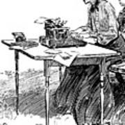 Gibson: Typing Art Print