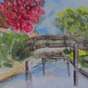 Giethoorn Bridges Art Print