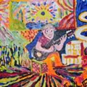 Gifted Guitar Man Art Print