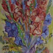 Gilded Flowers Art Print
