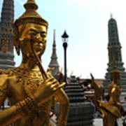 Gilded Statues Of Gods At The Grand Art Print