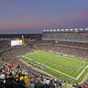 Gillette Stadium And New England Patriots Art Print