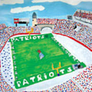 Gillette Stadium Art Print