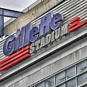 Gillette Stadium Sign Art Print