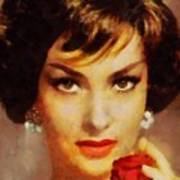 Gina Lollobrigida, Vintage Hollywood Actress Art Print