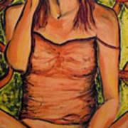 Gina The Smoking Woman Art Print
