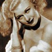Ginger Rogers, Actress Art Print