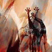 Giraffe Abstract Art 002 Art Print