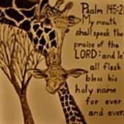 Giraffe Bible Verse Art Print