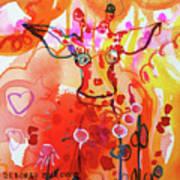 Giraffe Delightful Deborah Art Print