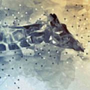 Giraffe Poly Art Print