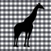 Giraffe Silhouette Art Print