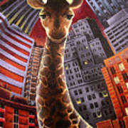 Giraffes Often Starve In Babylon Art Print