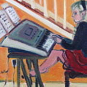Girl At Keyboard Art Print