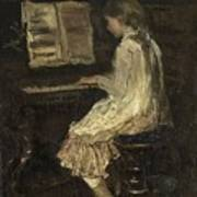 Girl At The Piano Art Print