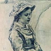 Girl Hell 1882 Ilya Repin Art Print