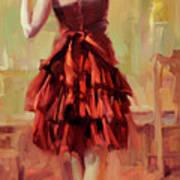 Girl In A Copper Dress IIi Art Print