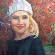 Girl In Late Fall Art Print